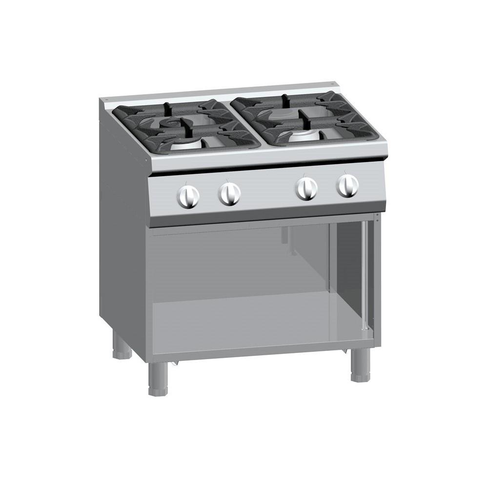 Cucina a gas 4 fuochi su vano aperto serie 700 Performance