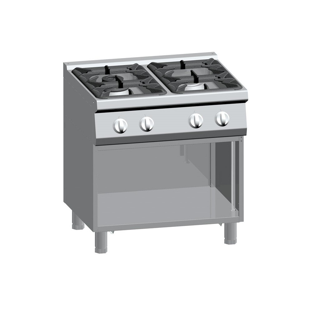 Cucina a gas 4 fuochi su vano aperto serie 900 Solution