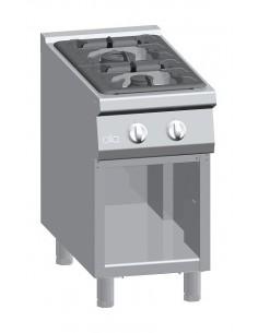 Cucina a gas 2 fuochi su vano aperto Serie 900
