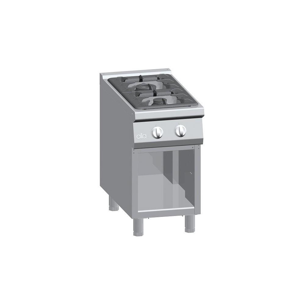 Cucina a gas 2 fuochi su vano aperto Serie 900 Solution