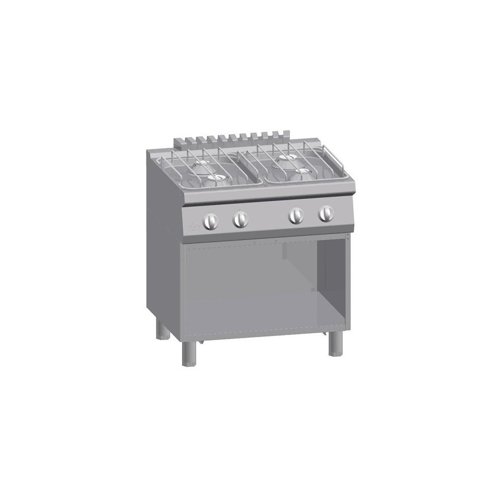 Cucina  a gas 4 fuochi su vano aperto Serie 700 Solution